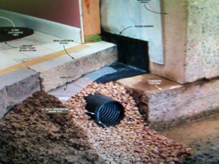 interior drain systems w sump pump the foundation doctor st louis