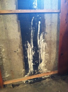 Does your basement look like this? This is bad foundation repair - call us today at 636-282-4242.